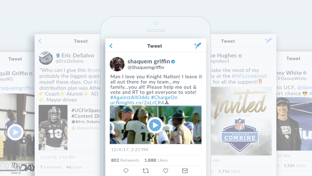social media athlete-driven ucf university central florida knights national champions athlete-driven
